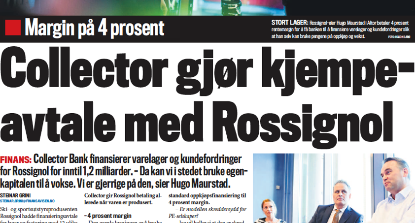 Collector Bank i Finansavisen